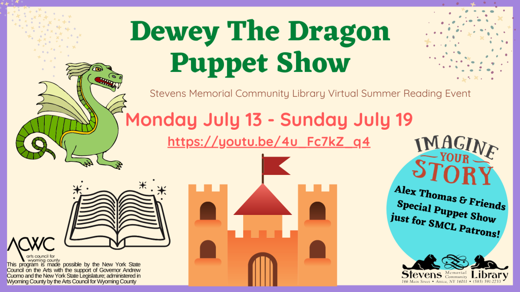 Dewey The Dragon Puppet Show